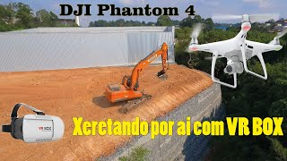 Segundo teste do VR Box no DJI Phantom 4 aplicativo Litchi