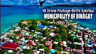 4K DRONE FOOTAGE- BIRD'S EYE VIEW OF THE MUNICIPALITY OF DINAGAT AND DINAGAT SCHOOL OF FISHERIES