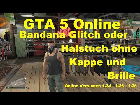 GTA 5 Online -  * GEPATCHT auf NextGEN * Bandana Glitch oder Halstuch ohne Kappe und Brille