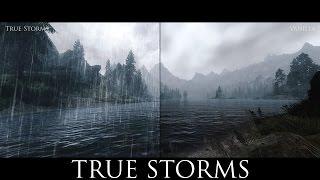 TES V - Skyrim Mods: True Storms - Thunder and Rain Redone