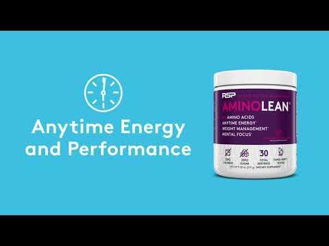 RSP Nutrition, AminoLean, Essential Amino Acids + Anytime Energy, Strawberry Kiwi, 9.52 oz (270 g)