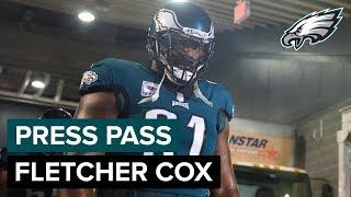 DT Fletcher Cox Praises Treyvon Hester   Eagles Press Pass