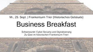 Unsere Marketingleitung lädt zum Business Breakfast ein