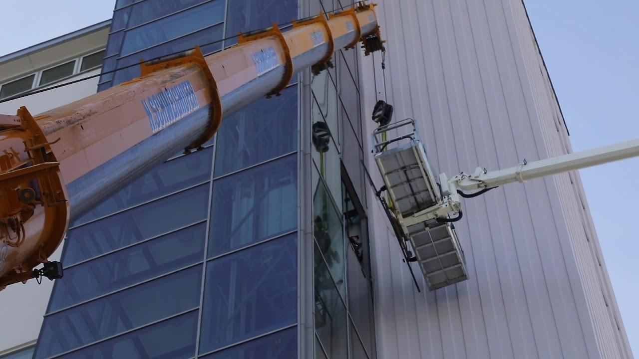 Vorschaubild Glasfassade am Hotel Europa wird getauscht