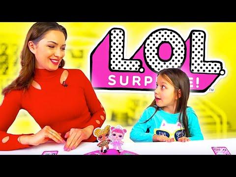 LOL CHALLENGE Лол Челлендж Кто Первый Оденет Куклу LOL Surprise Dolls Board Game/// Вики Шоу видео