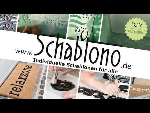 Schablonentechnik Fussmatte DIY