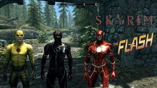 Skyrim Remastered (Mod Showcase) The Flash and Friends