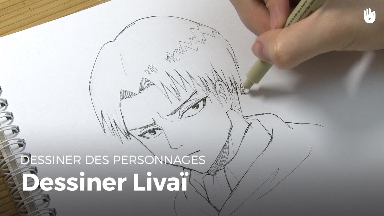 Comment dessiner levi attack on titan dessiner des personnage de bd et mangas sikana - Comment dessiner un but de foot ...