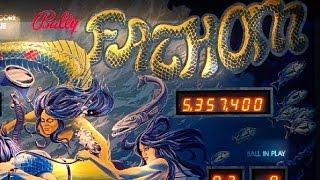 "1981 Bally ""FATHOM"" Pinball Machine In Action"