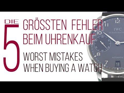 Die 5 größten Fehler beim Uhrenkauf - Bachmann & Scher
