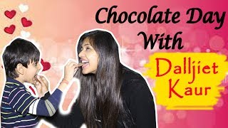 Exclusive: Dalljiet Kaur and her son Jaydon celebrate Chocolate Day