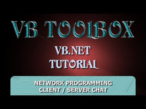 VB.NET Tutorial – Client / Server Network Programming – Simple Chat Application