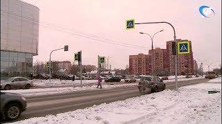 На самых опасных переходах Великого Новгорода установили светофоры