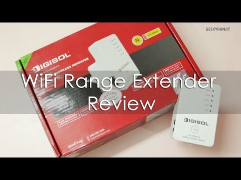 Increase WiFi Coverage / Range DIGISOL DG-WR3001N WiFi Repeater Review