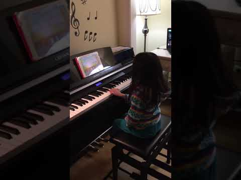 Another student playing with Piano Maestro