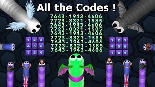 NEW 9 CODES Slither.io - ALL CODES Slitherio WINGS + How to get the codes + AI 70k Happy Christmas