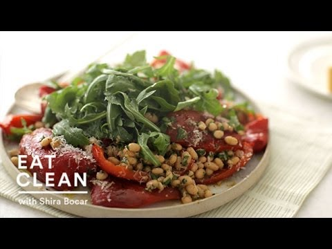 Roasted Red Pepper Salad with Anchovy White Beans – Eat Clean with Shira Bocar