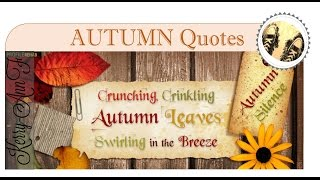 Autumn Quotes to Inspire and Motivate - Motivational Video
