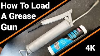 how to LOAD a GREASE GUN cartridge and prime ( 4K )