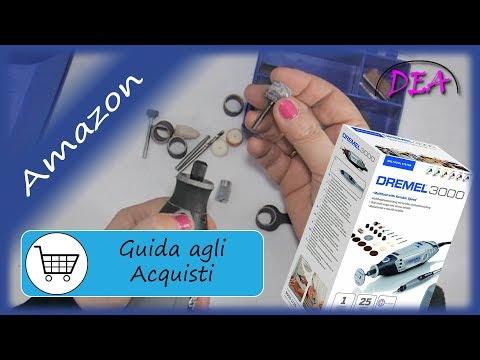 T.3°Guida acquisti-Amazon. Dremel 3000, accessori, cilindri abrasivi.