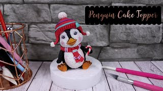 Cute Penguin Cake Topper