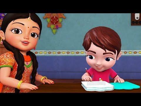 Homework Homework! Hota Hai Accha!   Hindi Rhymes for Children   Infobells