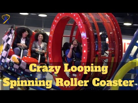 New Crazy Spinning Looping Coaster POV at IAAPA Expo