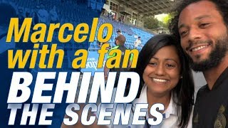 Real Madrid fan meets her favourite player Marcelo!