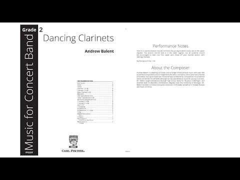 Dancing Clarinets (YPS221) by Andrew Balent