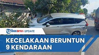 Kecelakaan Beruntun Libatkan 9 Kendaraan di Magelang, Badan Mobil Ringsek dan 1 Orang Meninggal