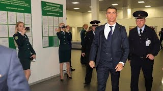 Cristiano Ronaldo to airport Zhukovsky in Russia arrive for World Cup 2018