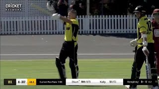 Watch all 23 sixes in Short's record knock