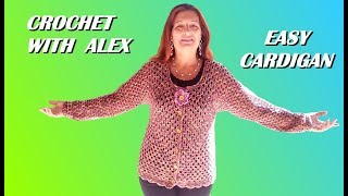 Download Crochet Top Down Cardigan Granny And Shells Any Size