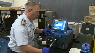 Coast Guard drug detection demonstration