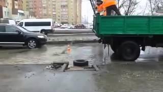 Смотреть онлайн Как в Рязани ведется ремонт дорог