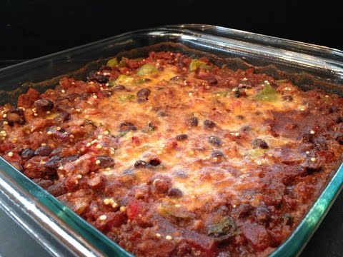 Video Healthy Taco Casserole Recipe - HASfit Healthy Mexican Recipes - Healthy Dinner Recipe