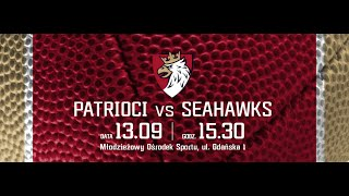 preview picture of video '13.09.2014 -- PATRIOCI Poznań -- SEAHAWKS Sopot -- 2 kwarta'