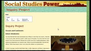 Social Studies Power Overview – World Book Online