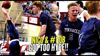 Nico Mannion THROWIN DOWN & FLEXIN ON EM!! Spencer Rattler The Hype Man!