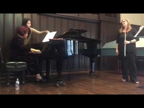 Performance of Claude Bolling's Amoureuse from Suite No. 2 for Flute and Jazz Piano, with pianist Galina Barskaya