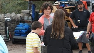"Cast of ABC's ""The Middle"" taping scenes for season finale at Magic Kingdom"