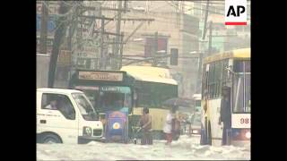 Floods due to monsoon and approaching typhoon