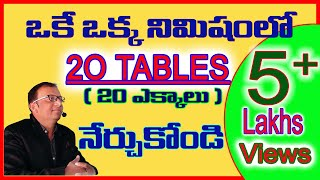 20 TABLES|How to learn tables easily in Telugu|Speed Tables|Vedic Maths|Maths Tricks|speed maths