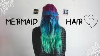 DIY Mermaid Hair // Arctic Fox Hair Color