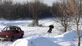 preview picture of video 'BP snow 5 (Bike park Želiezovce 2011)'