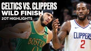 Celtics vs Clippers Wild Game   2OT Highlights