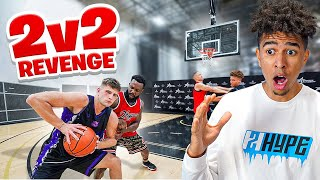 CASH WENT OFF! They Got EXPOSED BAD!! 2v2 Basketball Against Nick Briz & Carlos Reaction!