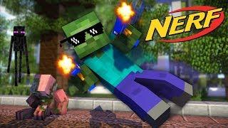 Monster School : NERF GUN GAME CHALLENGE - Minecraft Animation