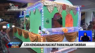 Warga Kristiani Ikut Meriahkan Pawai Malam Takbir di Manado