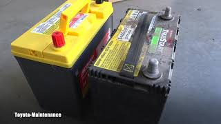 Toyota Prius how to replace 12V battery